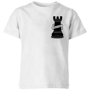 Rook Chess Piece Hold Fast Pocket Print Kids' T-Shirt - White