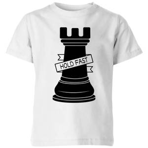 Rook Chess Piece Hold Fast Kids' T-Shirt - White