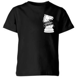 Honour And Glory Pocket Print Kids' T-Shirt - Black