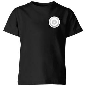 White Checker Pocket Print Kids' T-Shirt - Black