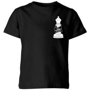 Yas Queen White Pocket Print Kids' T-Shirt - Black