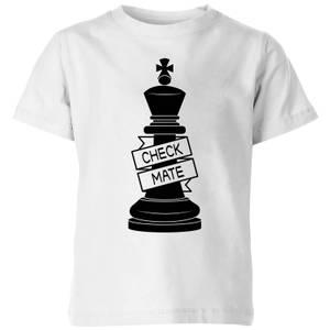 King Chess Piece Check Mate Kids' T-Shirt - White