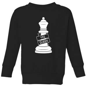 Queen Chess Piece Yas Queen Kids' Sweatshirt - Black