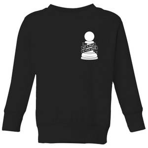 Not A Pawn In Your Game Pocket Print Kids' Sweatshirt - Black