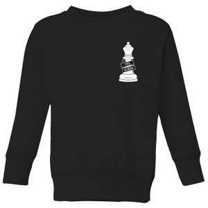 Yas Queen White Pocket Print Kids' Sweatshirt - Black