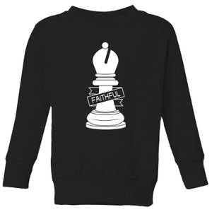 Bishop Chess Piece Faithful Kids' Sweatshirt - Black
