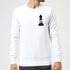 Queen Chess Piece Yas Queen Pocket Print Sweatshirt - White
