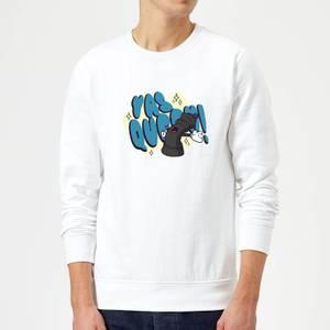 Yas Queen! Cartoon Sweatshirt - White
