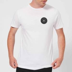 Black Checker Pocket Print Men's T-Shirt - White