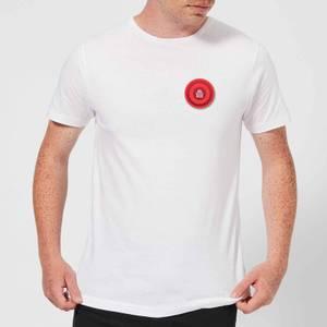Red Checker Pocket Print Men's T-Shirt - White