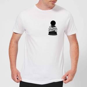 Pawn Chess Piece Pocket Print Men's T-Shirt - White