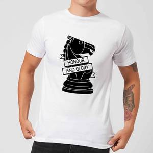 Knight Chess Piece Honour And Glory Men's T-Shirt - White