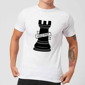 Rook Chess Piece Hold Fast Men's T-Shirt - White