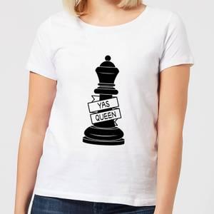 Queen Chess Piece Yas Queen Women's T-Shirt - White