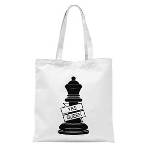 Queen Chess Piece Yas Queen Tote Bag - White