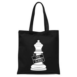 Queen Chess Piece Yas Queen Tote Bag - Black