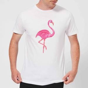 Pink Flamingo Men's T-Shirt - White