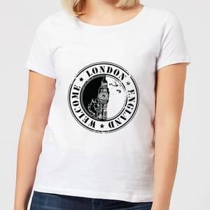 Welcome London England Women's T-Shirt - White