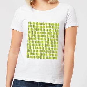 Green Leafy Blobs Women's T-Shirt - White