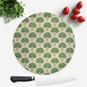 Cooking Broccoli Pattern Round Chopping Board