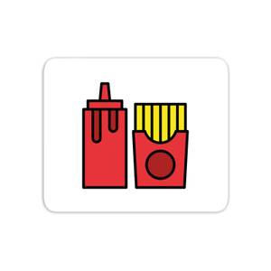 Cooking Ketchup And Fries Mouse Mat
