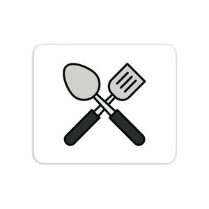 Cooking Spatula And Spoon Mouse Mat