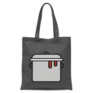 Cooking Pot Tote Bag - Grey