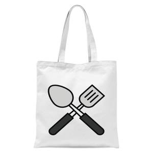Cooking Spatula And Spoon Tote Bag