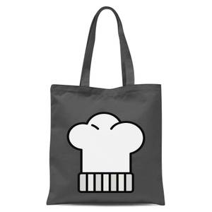 Cooking Chefs Hat Tote Bag - Grey
