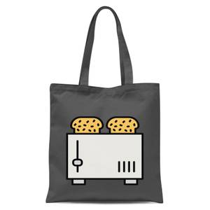 Cooking Toast In The Toaster Tote Bag - Grey