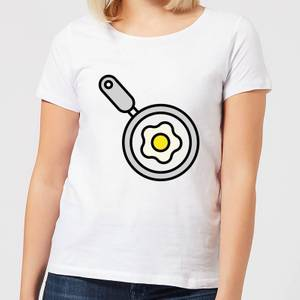 Cooking Fried Egg In A Pan Women's T-Shirt