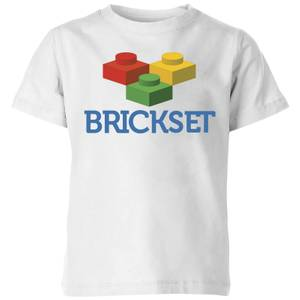 Brickset Logo Kids' T-Shirt - White