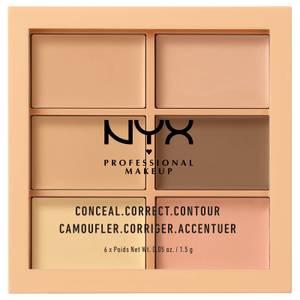 NYX Professional Makeup Conceal, Correct, Contour Palette - Light