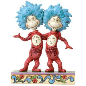 Dr Seuss by Jim Shore Thing 1 and Thing 2 Figurine