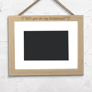 Will You Be My Bridesmaid? Landscape Frame