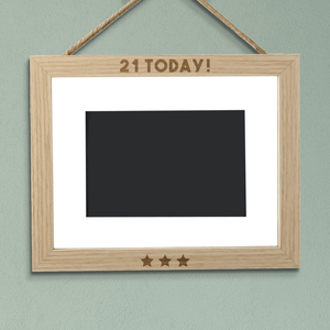 21 Today! Landscape Frame
