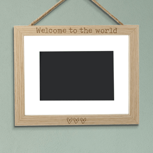 Welcome To The World Landscape Frame