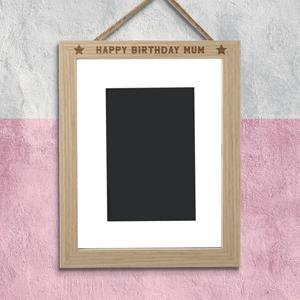 Happy Birthday Mum Portrait Frame