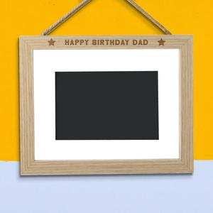 Happy Birthday Dad Landscape Frame