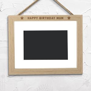 Happy Birthday Mum Landscape Frame