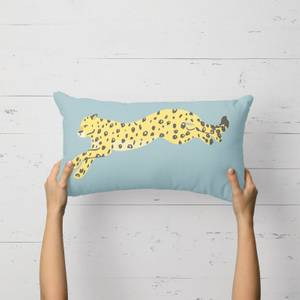 Cheetah Leap Rectangular Cushion