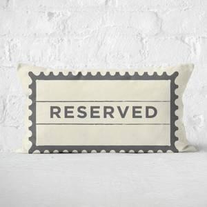 Reserved Rectangular Cushion