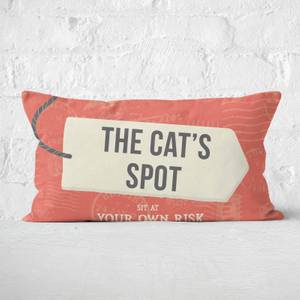 The Cat's Spot Rectangular Cushion