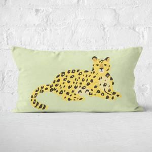 Cheetah Sitting Rectangular Cushion
