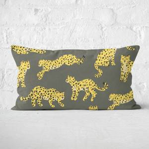 Cheetah Print Rectangular Cushion
