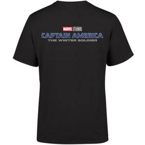 Marvel 10 Year Anniversary Captain America The Winter Soldier Men's T-Shirt - Black