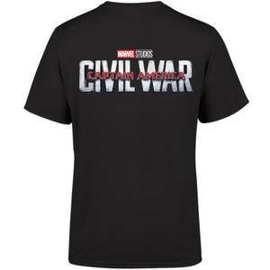 Marvel 10 Year Anniversary Captain America Civil War Men's T-Shirt - Black