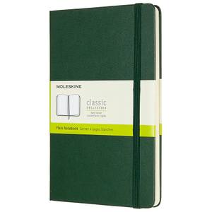 Moleskine Classic Plain Hardcover Large Notebook - Myrtle Green