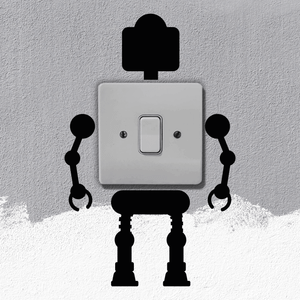 Robot Light Switch Art