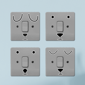 Happy Faces Light Switch Art